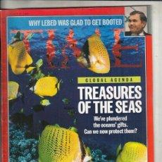 Coleccionismo de Revistas y Periódicos: REVISTA TIME Nº 28 OCTUBRE AÑO 1996. AGENDA MUNDIAL. TESOROS DE LOS MARES.. Lote 194279423