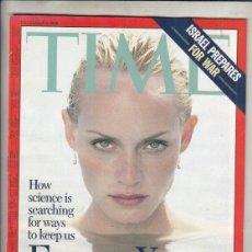 Coleccionismo de Revistas y Periódicos: REVISTA TIME Nº 9 DICIEMBRE AÑO 1996. ISRAEL SE PREPARA PARA LA GUERRA. JOVEN PARA SIEMPRE.. Lote 194279823