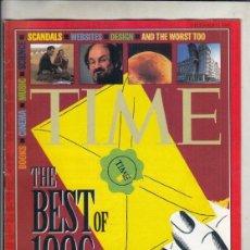 Coleccionismo de Revistas y Periódicos: REVISTA TIME Nº 23 DICIEMBRE AÑO 1996. LO MEJOR DE 1996. . Lote 194287253
