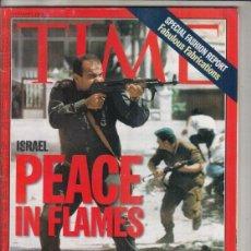 Coleccionismo de Revistas y Periódicos: REVISTA TIME Nº 7 OCTUBRE AÑO 1996. FABRICACIONES FABULOSAS. ISRAEL PAZ EN LLAMAS.. Lote 194287890