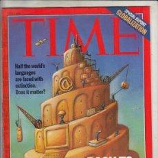 Coleccionismo de Revistas y Periódicos: REVISTA TIME Nº 7 JULIO AÑO 1997. GLOBALIZACON. VOLVER A BABEL.. Lote 194288526