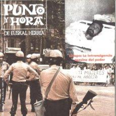 Coleccionismo de Revistas y Periódicos: PUNTO Y HORA DE EUSKAL HERRIA. 231. JULIO 1981. Lote 194288540