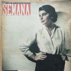 Coleccionismo de Revistas y Periódicos: REVISTA SEMANA Nº 774 1954 MARÍA DEL CARMEN GIMENEZ-ARNAU Y TORRENTE. CARAMELOS, RITA LUNA, SALZILLO. Lote 194291622