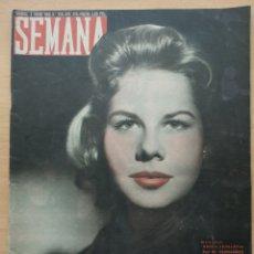 Coleccionismo de Revistas y Periódicos: REVISTA SEMANA Nº 828 1956 JULIETA BASALO YANES. SAN NICOLAS LLEGA A ESPAÑA. Lote 194291826