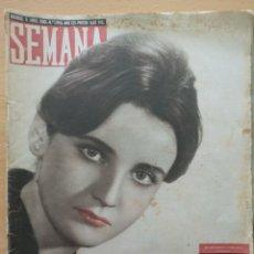 Coleccionismo de Revistas y Periódicos: REVISTA SEMANA Nº 1050 1960 MARÍA DEL PILAR IRANZO BARCELÓ. PALACIO MARQUESA VILLAR. PURA SANGRE. Lote 194292407