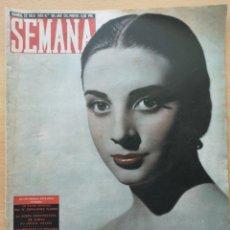 Coleccionismo de Revistas y Periódicos: REVISTA SEMANA Nº 961 1958 MARÍA DEL CARMEN GONZÁLEZ CALISALVO DE ARALUCE. LISBOA, LAGO NESS. Lote 194292561