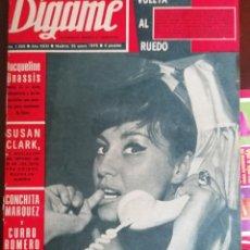 Coleccionismo de Revistas y Periódicos: DIGAME Nº1568 1970 JULIAN GAYARRE EL RONCAL -SUSAN CLARK . Lote 194293342
