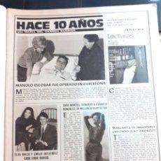 Coleccionismo de Revistas y Periódicos: SARA MONTIEL MANOLO ESCOBAR EMILIO GUTIERREZ CABA ELSA BAEZA CLAUDIA CARDINALE . Lote 194308165