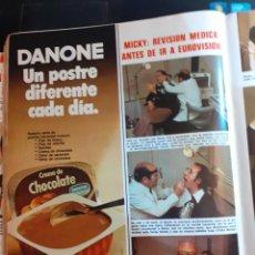 Coleccionismo de Revistas y Periódicos: MICKY ANUNCIO NATILLAS DANONE. Lote 194309062