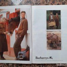 Coleccionismo de Revistas y Periódicos: ANUNCIO BURBERRYS. Lote 194318961