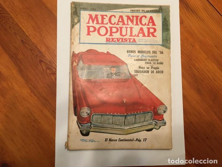 MECANICA POPULAR REVISTA ENERO 1956 (Coleccionismo - Revistas y Periódicos Modernos (a partir de 1.940) - Otros)