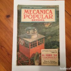 Coleccionismo de Revistas y Periódicos: MECANICA POPULAR REVISTA, SEPTIEMBRE 1954. Lote 194334704