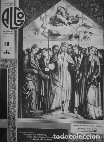 ALGO. ILUSTRACIÓN POPULAR. AÑO VIII, Nº342. DIRECTOR: M. JIMÉNEZ MOYA. BARCELONA, 1936. (Coleccionismo - Revistas y Periódicos Antiguos (hasta 1.939))