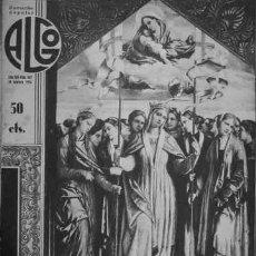 Coleccionismo de Revistas y Periódicos: ALGO. ILUSTRACIÓN POPULAR. AÑO VIII, Nº342. DIRECTOR: M. JIMÉNEZ MOYA. BARCELONA, 1936. . Lote 194339097