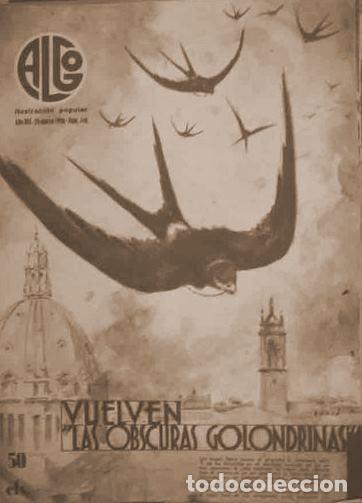 ALGO. ILUSTRACIÓN POPULAR. AÑO VIII, Nº346. DIRECTOR: M. JIMÉNEZ MOYA. BARCELONA, 1936 (Coleccionismo - Revistas y Periódicos Antiguos (hasta 1.939))