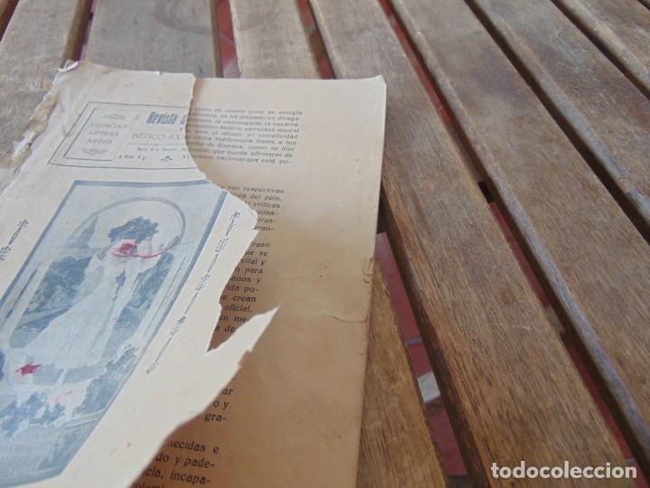 Coleccionismo de Revistas y Periódicos: REVISTA DE MORÓN DE LA FRONTERA BÉTICO EXTREMEÑA. ANDALUCÍA PORTADA INCOMPLETA - Foto 2 - 194341140