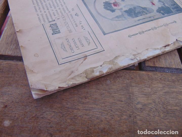 Coleccionismo de Revistas y Periódicos: REVISTA DE MORÓN DE LA FRONTERA BÉTICO EXTREMEÑA. ANDALUCÍA PORTADA INCOMPLETA - Foto 8 - 194341140