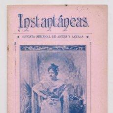 Coleccionismo de Revistas y Periódicos: INSTANTÁNEAS. REVISTA SEMANAL DE ARTES Y LETRAS. N 47. AGOSTO 1899. Lote 194342163