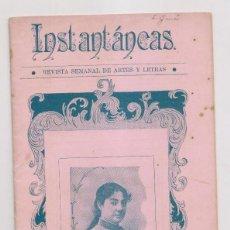 Coleccionismo de Revistas y Periódicos: INSTANTÁNEAS. REVISTA SEMANAL DE ARTES Y LETRAS. N 48. SEPTIEMBRE 1899. CARTAGENA. Lote 194343103