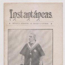 Coleccionismo de Revistas y Periódicos: INSTANTÁNEAS. REVISTA SEMANAL DE ARTES Y LETRAS. N 27. OCTUBRE 1898. Lote 194343598