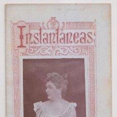 Coleccionismo de Revistas y Periódicos: INSTANTÁNEAS. REVISTA SEMANAL DE ARTES Y LETRAS. N 35. JUNIO 1899. MUERTE DE EMILIO CASTELAR. Lote 194344927