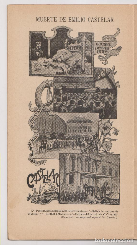 Coleccionismo de Revistas y Periódicos: INSTANTÁNEAS. REVISTA SEMANAL DE ARTES Y LETRAS. N 35. JUNIO 1899. MUERTE DE EMILIO CASTELAR - Foto 4 - 194344927