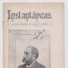 Coleccionismo de Revistas y Periódicos: INSTANTÁNEAS. REVISTA SEMANAL DE ARTES Y LETRAS. N 7. NOVIEMBRE 1898. Lote 194345797