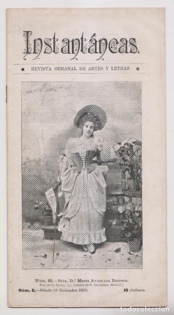 INSTANTÁNEAS. AÑO II, Nº 65. 26 NOVIEMBRE 1898. (Coleccionismo - Revistas y Periódicos Antiguos (hasta 1.939))