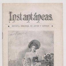 Coleccionismo de Revistas y Periódicos: INSTANTÁNEAS. AÑO II, Nº 65. 26 NOVIEMBRE 1898. . Lote 194346666