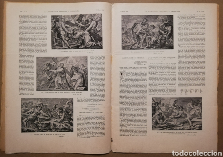 Coleccionismo de Revistas y Periódicos: LA ILUSTRACIÓN ESPAÑOLA Y AMERICANA - 30 marzo 1899 - VIACRUCIS - SOROLLA - Temas religiosos - - Foto 4 - 194349857