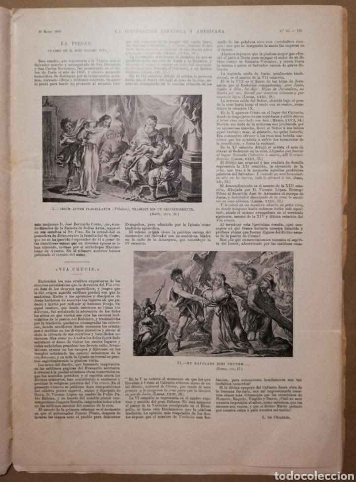 Coleccionismo de Revistas y Periódicos: LA ILUSTRACIÓN ESPAÑOLA Y AMERICANA - 30 marzo 1899 - VIACRUCIS - SOROLLA - Temas religiosos - - Foto 2 - 194349857