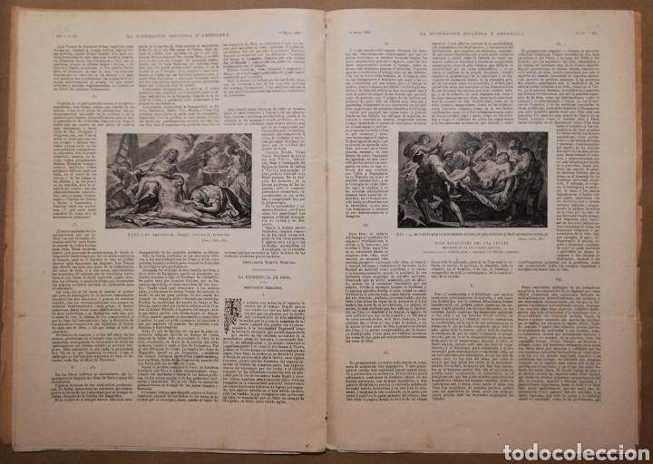 Coleccionismo de Revistas y Periódicos: LA ILUSTRACIÓN ESPAÑOLA Y AMERICANA - 30 marzo 1899 - VIACRUCIS - SOROLLA - Temas religiosos - - Foto 7 - 194349857