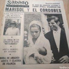 Coleccionismo de Revistas y Periódicos: MARISOL Y EL CORDOBÉS SÁBADO GRÁFICO 1964. Lote 194352108