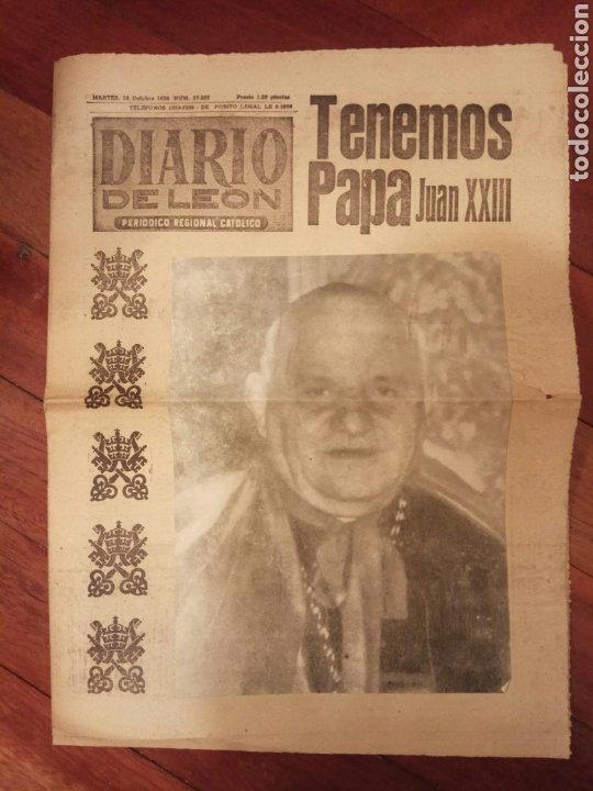 DIARIO DE LEÓN OCTUBRE 1958 (Coleccionismo - Revistas y Periódicos Modernos (a partir de 1.940) - Otros)