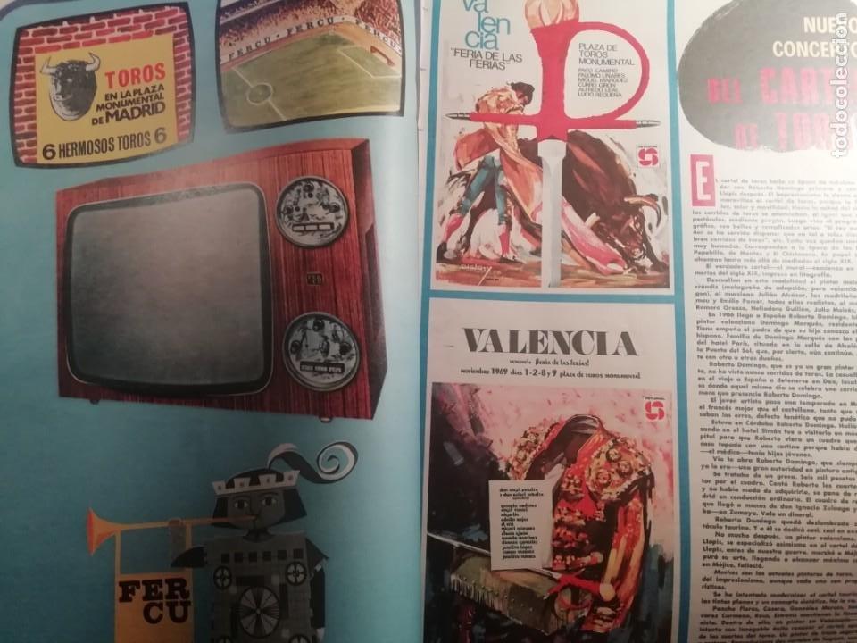 Coleccionismo de Revistas y Periódicos: DIGAME AÑO 1970 NUMERO EXTRAORDINARIO DE TOROS A COLOR GRAN FORMATO 43X29 CM - Foto 2 - 194355540