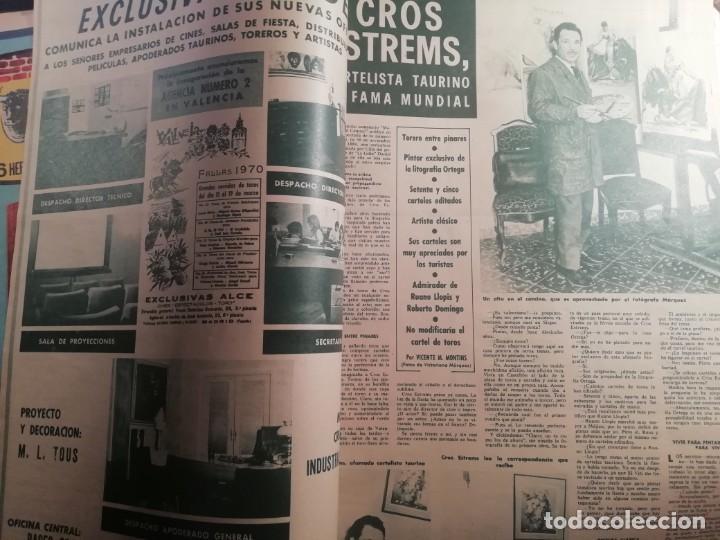 Coleccionismo de Revistas y Periódicos: DIGAME AÑO 1970 NUMERO EXTRAORDINARIO DE TOROS A COLOR GRAN FORMATO 43X29 CM - Foto 3 - 194355540