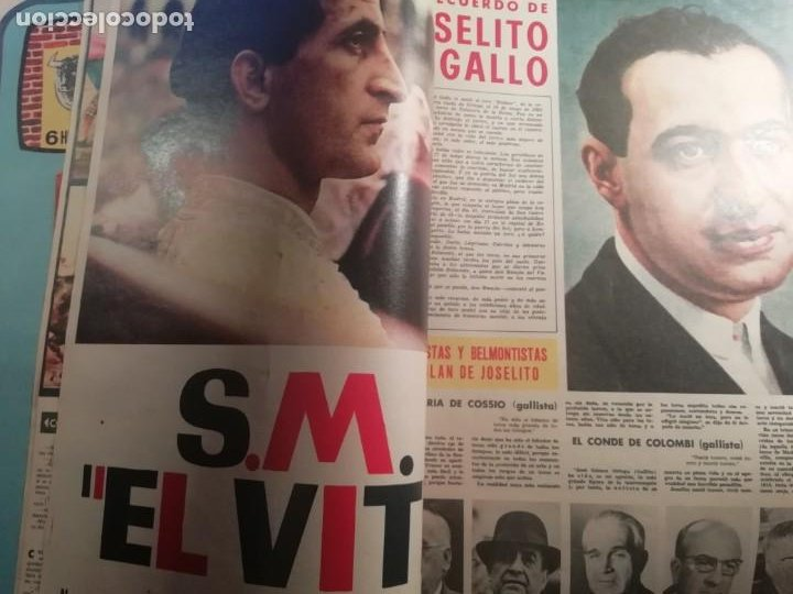 Coleccionismo de Revistas y Periódicos: DIGAME AÑO 1970 NUMERO EXTRAORDINARIO DE TOROS A COLOR GRAN FORMATO 43X29 CM - Foto 5 - 194355540