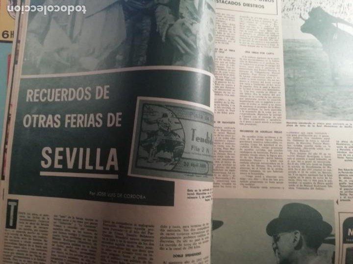 Coleccionismo de Revistas y Periódicos: DIGAME AÑO 1970 NUMERO EXTRAORDINARIO DE TOROS A COLOR GRAN FORMATO 43X29 CM - Foto 6 - 194355540