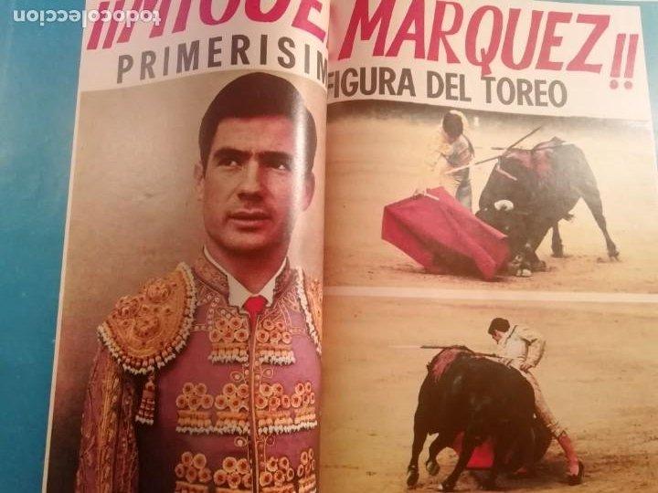 Coleccionismo de Revistas y Periódicos: DIGAME AÑO 1970 NUMERO EXTRAORDINARIO DE TOROS A COLOR GRAN FORMATO 43X29 CM - Foto 10 - 194355540