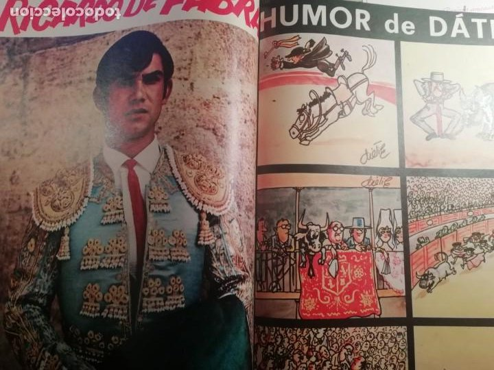 Coleccionismo de Revistas y Periódicos: DIGAME AÑO 1970 NUMERO EXTRAORDINARIO DE TOROS A COLOR GRAN FORMATO 43X29 CM - Foto 12 - 194355540