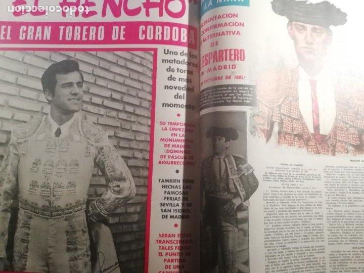 Coleccionismo de Revistas y Periódicos: DIGAME AÑO 1970 NUMERO EXTRAORDINARIO DE TOROS A COLOR GRAN FORMATO 43X29 CM - Foto 15 - 194355540