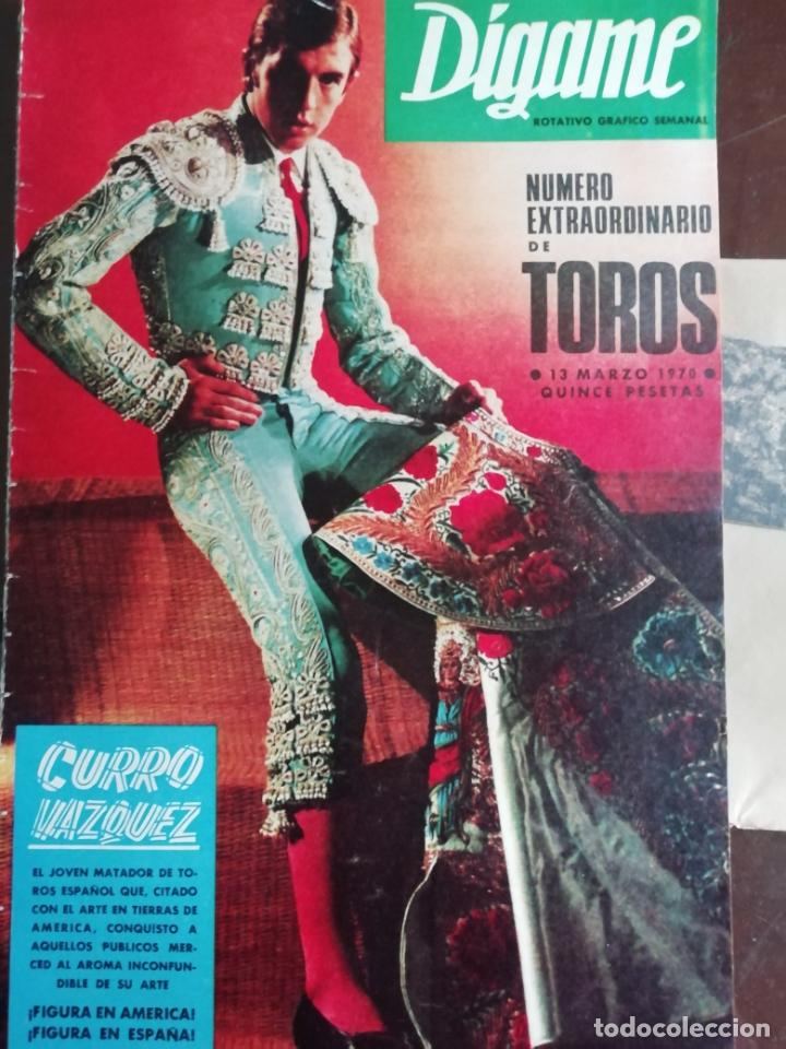 DIGAME AÑO 1970 NUMERO EXTRAORDINARIO DE TOROS A COLOR GRAN FORMATO 43X29 CM (Coleccionismo - Revistas y Periódicos Modernos (a partir de 1.940) - Otros)