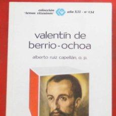 Coleccionismo de Revistas y Periódicos: TEMAS VIZCAINOS. VALENTÍN DE BERRIO-OCHOA. Lote 194359108
