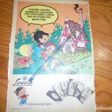 Coleccionismo de Revistas y Periódicos: PUBLICIDAD CHOCOLATES LOYOLA. EL CHOCOLATE DE BARRIGUIN. Lote 194369910