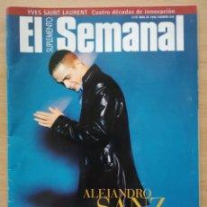 Coleccionismo de Revistas y Periódicos: SUPLEMENTO SEMANAL Nº 546 1998 ALEJANDRO SANZ, SARA BARAS, REMEDIOS AMAYA, MONICA NARANJO.. Lote 194370653