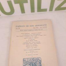 Coleccionismo de Revistas y Periódicos: PAPELES DE SON ARMADANS.MADRID.PALMA DE MALLORCA.. Lote 194388835