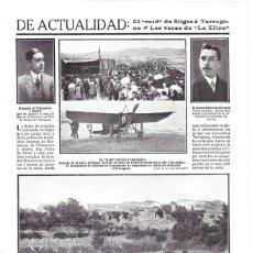 Coleccionismo de Revistas y Periódicos: 1911 HOJA REVISTA TARRAGONA FIESTA DE AVIACIÓN RAID SITGES-TARRAGONA AVIÓN MONOPLANO AVIADOR MAUVAIS. Lote 194391641