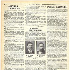 Coleccionismo de Revistas y Periódicos: 1911 HOJA REVISTA LIBRO PERIODISTAS Y ESCRITORES CATALANES CIRICI VENTALLÓ Y JOSÉ ARRUFAT MESTRES. Lote 194393147