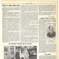Coleccionismo de Revistas y Periódicos: 1911 HOJA REVISTA GRAN CANARIA GÁLDAR MAESTRO ESCUELA PÚBLICA FRANCISCO GUILLÉN MORALES. Lote 194393275