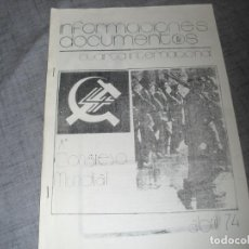 Colecionismo de Revistas e Jornais: PASQUIN O FOLLETO TRANSICION POLÍTICA CLANDESTINO 1974 COMUNISTA C.1 . Lote 194407417